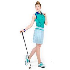 GG Blue Lea Escape Golf Skort and Jody Sleeveless Golf Top | #Golf4Her #GolfClothes #Fall14