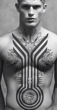 Here are some best Chest Tattoos Ideas for Men. See these tattoos designs and select what you like. There are many best ideas with different bodies and with different sizes of tattoos. Cool Chest Tattoos, Back Tattoos, Hot Tattoos, Great Tattoos, Body Art Tattoos, Sleeve Tattoos, Tribal Tattoos For Men, Tattoos For Guys, Off The Map Tattoo