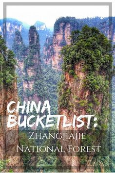 """China Travel: Zhangjiajie National Forest or """"Avatar Mountains"""" is a must see and should be or your China bucket list of things to do. A two day guide on what to see and do. Read full article: https://togethertowherever.com/zhangjiajie-forest-two-day-trekking/"""