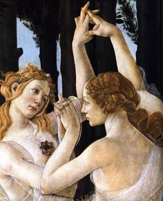 BOTTICELLI, Sandro [Italian Early Renaissance Painter, ca.1445-1510] Primavera (detail) c. 1482 Tempera on panel Galleria degli Uffizi, Florence