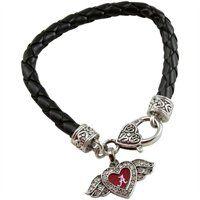 Alabama Crimson Tide Heart and Wings Bracelet. #UltimateTailgate #Fanatics