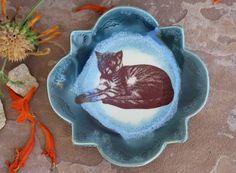 Cat Ring Dish handmade ceramic plate ring by ManuelaMarinoCeramic