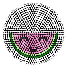 Watermelon Perler bead pattern