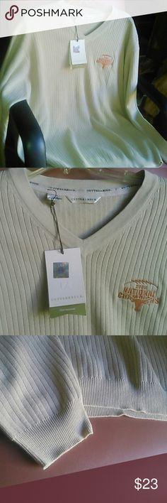 NEW sports shirt long-sleeved XL tan Cutter & Buck 2005 National Champions, no defects,  rare. Cutter & Buck Shirts Tees - Long Sleeve