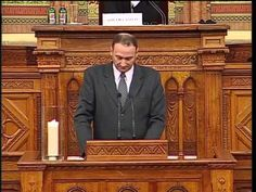 Rudolf Weiss is the president of the German People's Union (Deutscher Volksverband) in Serbia. This is a cut of his speach in the Hungarian Parliament. German People, Budapest Hungary, Presidents, History, Historia