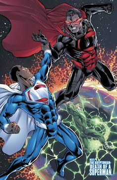 Val-Zod comes face to face with Kal-El! This Just Happened: The Kryptonians Face Off in EARTH 2! | DC Comics