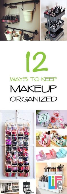Check out these great makeup organizing tips! I love these!