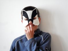 Badger Kids Animal Mask Children Felt Carnival by BHBKidstyle, €10.00