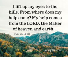 When a loved one doesn't feel well for such a long time, you just need to lift up your eyes to the LORD. He created the heaven, the earth, and your loved one. Nothing is too hard for the Lord. Psalm 121, Psalms, 21 Days, Heaven On Earth, Feel Better, My Eyes, Pray, Encouragement, Cancer