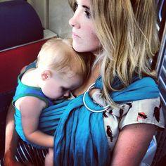 Instagram photo by @caroleebeckham #sakurabloom #babywearing