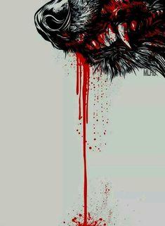 Dark Fantasy Art, Dark Art, Wolf Artwork, Werewolf Art, Wolf Wallpaper, Wolf Pictures, Wolf Tattoos, Lone Wolf Tattoo, Anime Wolf