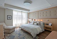 The Avenue, Main Bedroom - contemporary - bedroom - toronto - Shelley Kirsch Interior Design and Decoration