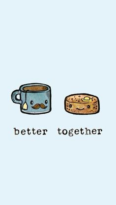 Afbeeldingsresultaat voor cute better together Cute Wallpaper Backgrounds, Pretty Wallpapers, Cute Cartoon Wallpapers, Bff, Bestfriends, Besties, Kawaii Drawings, Cute Drawings, Cute Food Wallpaper