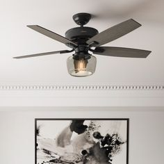 It's easy to see why Bennett is one of Hunter Fan Company's most popular fans! We especially like the smoked clear glass globe. Save 20% on Bennett with promo code HUNTER20 at LightsOnline. Promo ends 9/30/20. #ModernCeilingFan #UpdateCeilingFan #HunterCeilingFans #CeilingFanUpdated #ChicCeilingFan