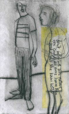 Pat Thornton//She Knows Better//Drypoint