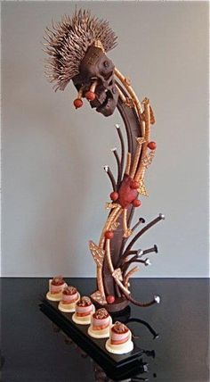 Chocolate Sculpture with Petits Fours