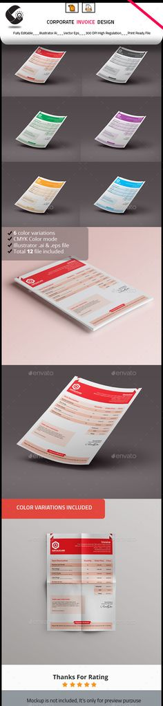 corporate invoice | font logo and logos, Invoice templates