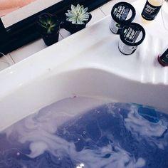 bath, lush, and water image