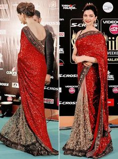 40 Best Images Of Deepika Padukone In Saree Bollywood Designer Sarees, Bollywood Dress, Saree Dress, Pakistani Dresses, Indian Dresses, Indian Outfits, Indian Sarees, Indian Clothes, Bollywood Actors