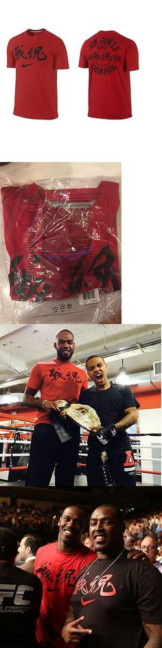 Mixed Martial Arts MMA 177913: Jon Jones Nike Dri Fit Shirt Warrior Spirit Red Limited Edition Ufc Xl -> BUY IT NOW ONLY: $139.3 on eBay!