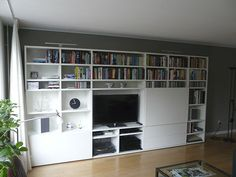 Anderen over ons Bookshelves, Bookcase, Interior Decorating, Interior Design, Wall Storage, Home Projects, Shelving, Loft, Living Room
