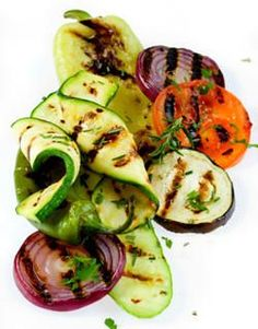 Grilled Vegetables Recipes   (including roasted Eggplant with tahini, garlic and lemon juice)