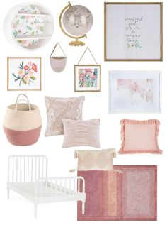 Pink Blush and Gold Girls Bedroom
