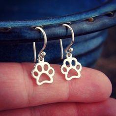 Hollow Paw Print Earrings!