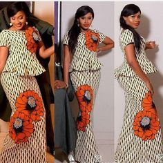 Classy picture collection of Beautiful Ankara Skirt And Blouse Styles These are the most beautiful ankara skirt and blouse trending at the moment. If you must rock anything ankara skirt and blouse styles and design. African Fashion Ankara, African Print Dresses, African Print Fashion, African Dress Styles, Nigerian Fashion, African Prints, African Attire, African Wear, African Women