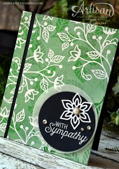 Sympathy card by Artisan Design Team member, Connie Collins, using the trapped embossing technique and Flourishing Phrases stamp set.