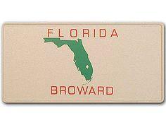 Florida-Boosterplate -Broward- mit individuellem Wunschtext