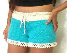 Shorts de crochet por TearseyMartinDesigns en Etsy