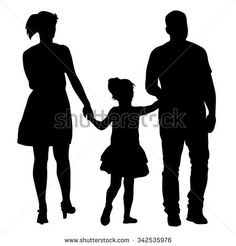 Silhouettes Family on white background. Silhouette Family, Silhouette Design, Tattoos For Kids, Small Tattoos, Chanel Wallpapers, People Png, Pyrography Patterns, Creative Wedding Cakes, Plaster Art
