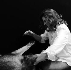 Stana Katic & her pup