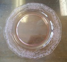 Dinner Plate Size: in diameter Maker: Fostoria Pattern: June Pink Depression Glass, China Patterns, Vintage Glassware, Candy Dishes, Dinner Plates, Red And Pink, June, Pottery, Bows