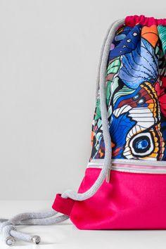 Backpack Bags, Sling Backpack, Drawstring Bags, Vogue, Polish, Backpacks, Urban, Pink, Handmade