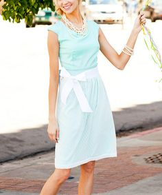 Love this Out of the Blue Tie-Waist Dress by Shabby Apple