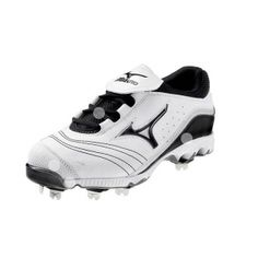 SALE - Womens Mizuno Swift G2 Switch Softball Cleats White Leather - Was $64.99 - SAVE $2.00. BUY Now - ONLY $62.99