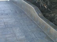 . Concrete Color, Concrete Driveways, Stamped Concrete, Modern Exterior, Pathways, Curb Appeal, Diamond Cuts, Backyard Ideas, Fence