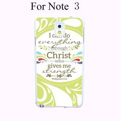 Christian Theme Bible Hard White Cover Case for Galaxy A3 A5 A7 A8 Note 2 3 4 5