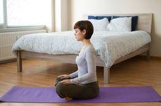 1. Lotus Pose With Deep Breathing (Padmasana)