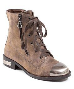 Look what I found on #zulily! Bronze & Silver Toe-Cap Story Boot by CheckList #zulilyfinds