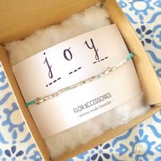Dash dot Custom bracelet joy - Customised Morse code bracelet (personalised with word or name of your choice) great gift by FlorAccessoires