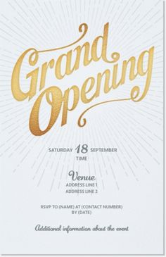 12 great grand opening invitation wording ideas grand opening why youll love light gray grand opening vertical flat invitations 5x7 stopboris Image collections