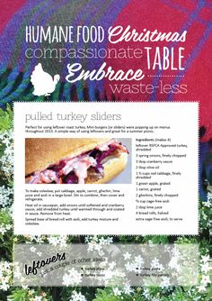 Higher welfare pulled turkey sliders. From our All Chefs Great & Small blog at http://www.rspca.org.au/shophumane/blog/