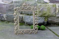 Large Ornate 8x10 Cast Iron Metal Photo Frame by NorthMajestyTrail