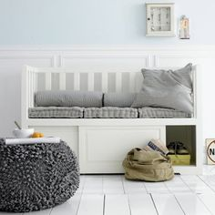 Bench it--seating with storage.