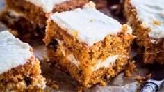 Chocolate Chip Carrot Cake is a delicious way to use up a pound of carrots. This cake recipe is topped simply with a cream cheese frosting. Cinnamon Cream Cheeses, Cream Cheese Frosting, Raw Food Recipes, Cake Recipes, Spring Recipes, Food Cakes, Yummy Cakes, Carrots, Sweets