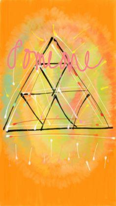 someone to share a joy. orange. triangle. nice!!!