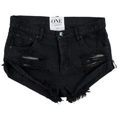 OneTeaspoon ($75) ❤ liked on Polyvore featuring shorts, bottoms, black and oneteaspoon